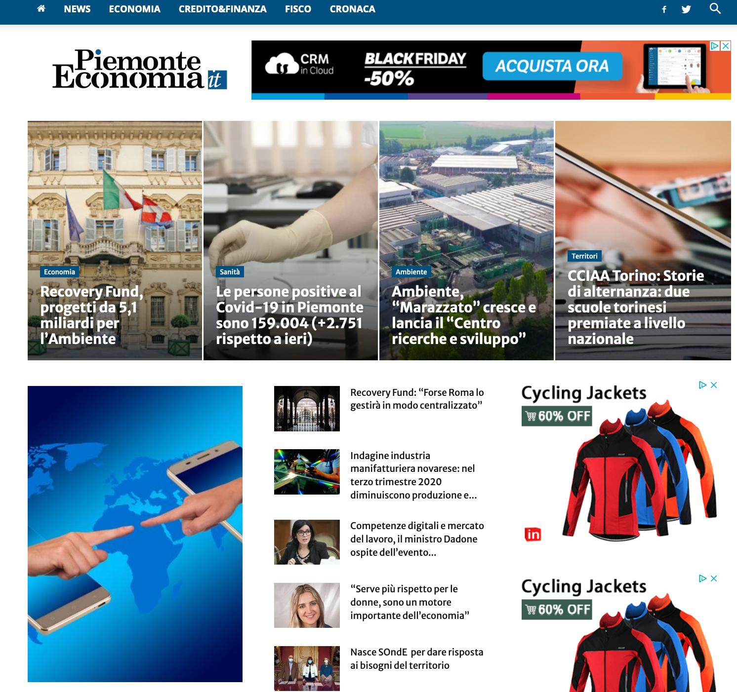 Sito web Piemonte Economia