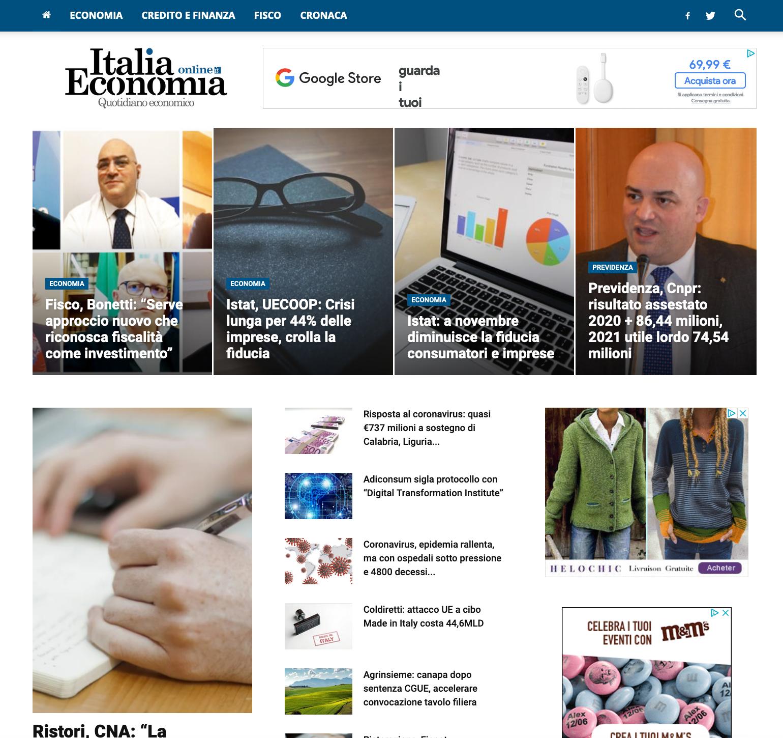 Sito web Italia Economia Online