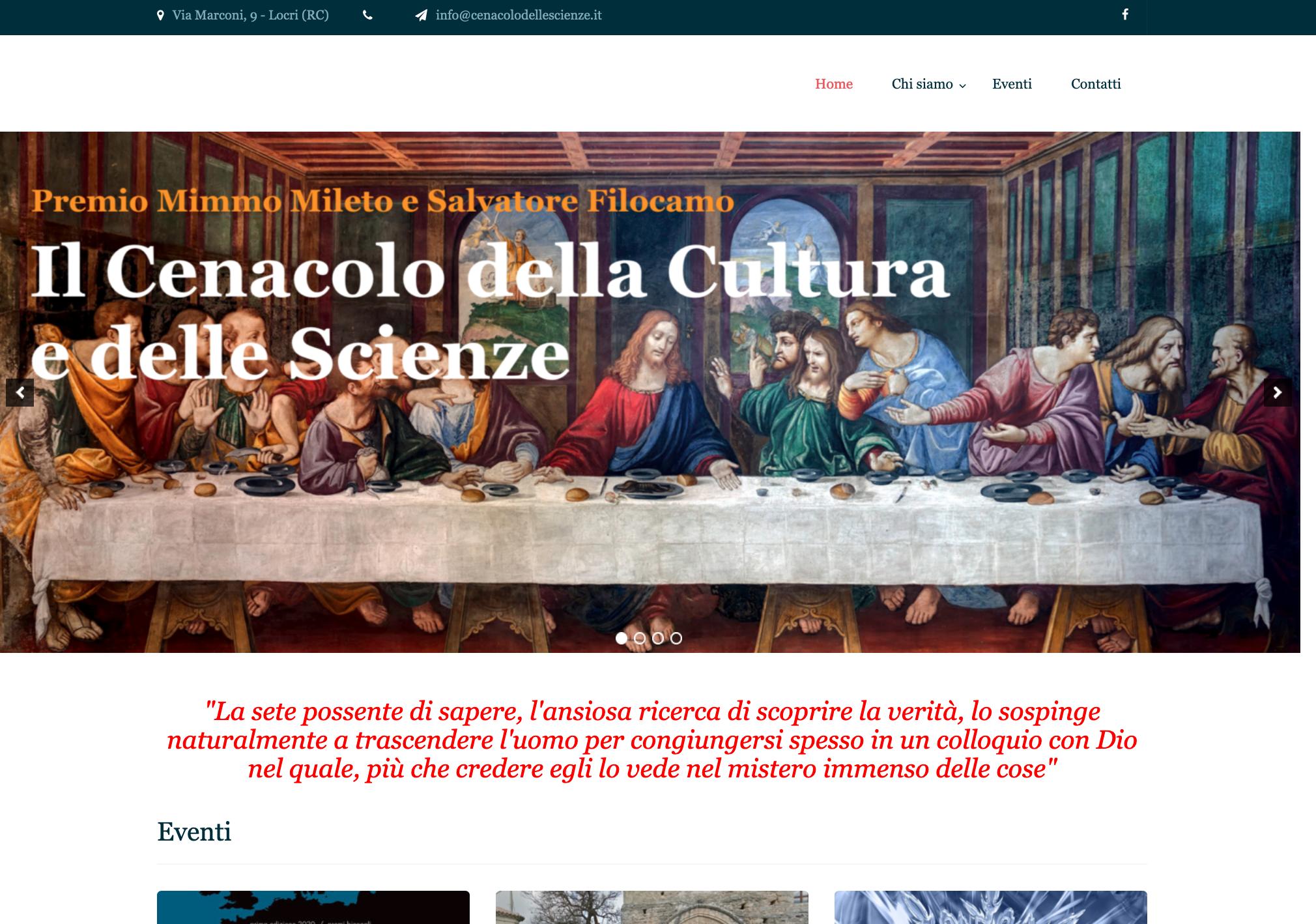Sito web Il Cenacolo delle Scienze