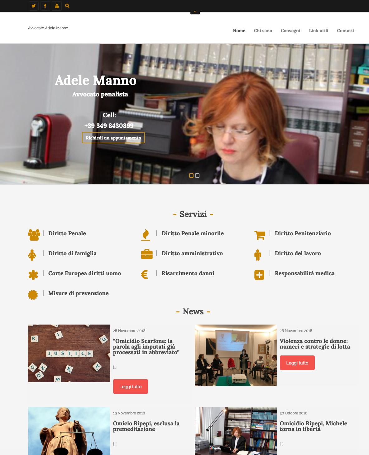 Sito web Avvocato Adele Manno