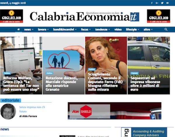 Sito web Calabria Economia