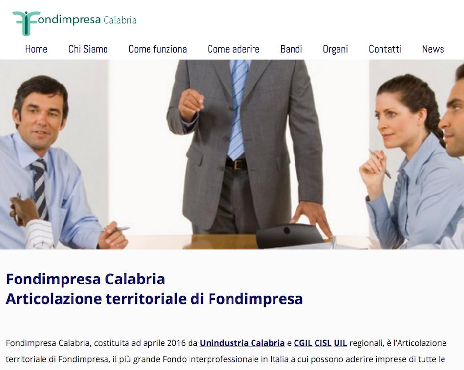 Sito web Fondimpresa Calabria